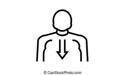 bulimia psychological problems animated black icon. bulimia psychological problems sign. isolated on white background
