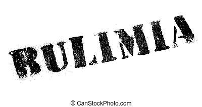 Bulimia rubber stamp