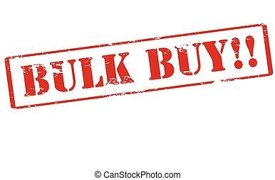 Bulk buy - Rubber stamp with text bulk buy inside, vector...