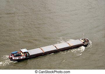 Bulk Carrier - A bulk carrier on Meuse River