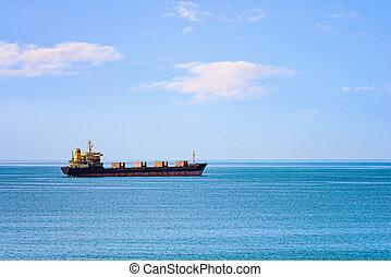 Bulk Carrier in the Sea - Bulk Carrier Ship in the Black Sea