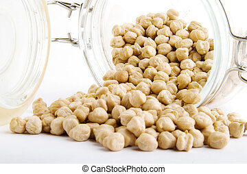 Bulk Chick Peas - Bulk chick peas in a glass container