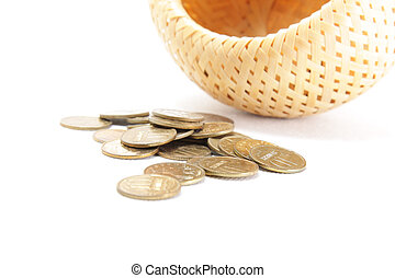 Bulk coins and basket