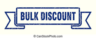 bulk discount grunge ribbon. bulk discount sign. bulk discount banner