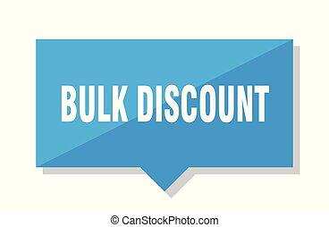 bulk discount price tag - bulk discount blue square price...