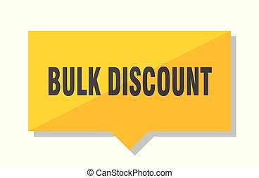 bulk discount price tag - bulk discount yellow square price...