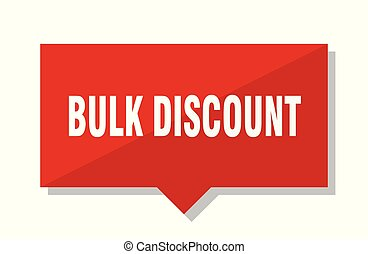 bulk discount red tag - bulk discount red square price tag