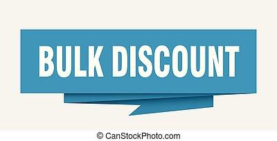 bulk discount sign. bulk discount paper origami speech...