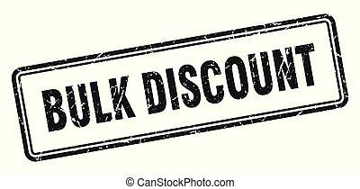bulk discount stamp. bulk discount square grunge sign. bulk discount