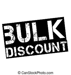 bulk discount stamp on white