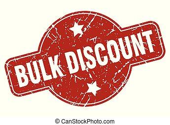 bulk discount vintage stamp. bulk discount sign