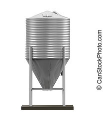 Bulk Feed Silo isolated on white background. 3D render