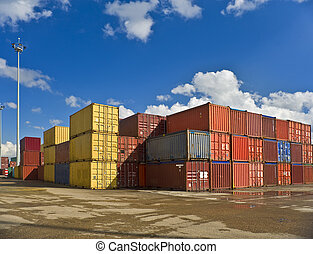 containers  - bulk of containers in a dockyard