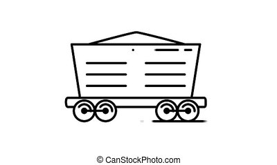 Bulk Wagon line icon is one of the Transportation icon set. File contains alpha channel. From 2 to 6 seconds - loop.
