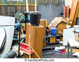 furniture for a bulky waste awaiting removal by the local authority