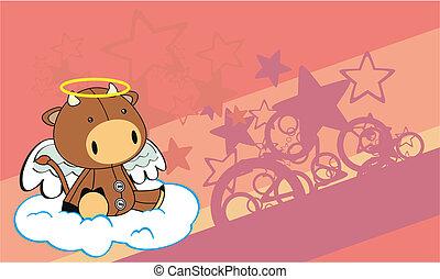 bull angel cartoon background
