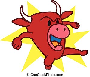 Bull angry vector art