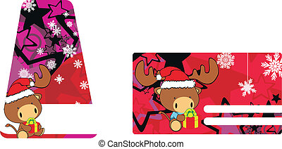 bull baby claus cartoon sticker