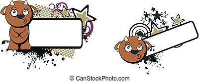 bull baby cute cartoon copyspace6