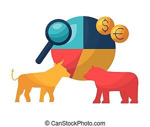 bull bear stock market chart money