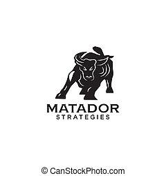 Bull buffalo bison logo icon design vector template