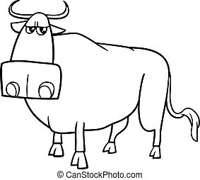 bull cartoon coloring book