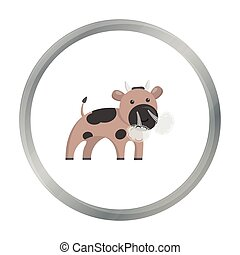 Bull cartoon icon. Illustration for web and mobile design.