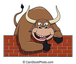 Bull cartoon illustration