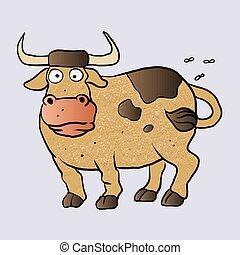 Bull cartoon. vector illustration