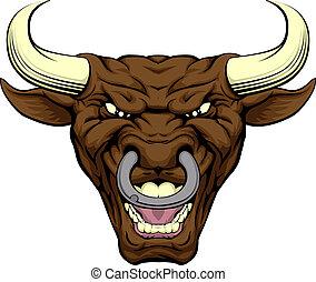 Bull character face
