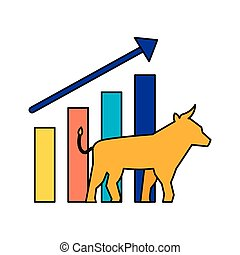 bull chart growth stock market