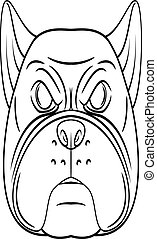 Bull dog head