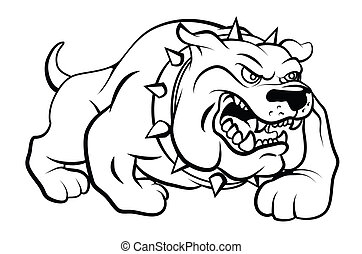 Bull Dog Vector Illustration