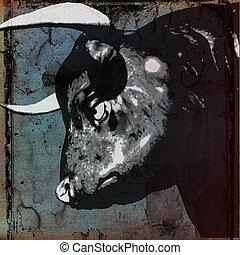 Bull Head Background  Illustration