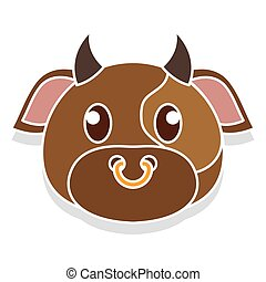 Bull head cartoon
