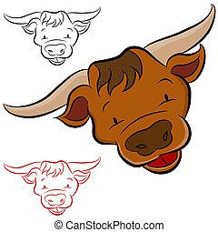 Bull Head - An image of a bull head.