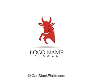 Bull head icon logo design vector template