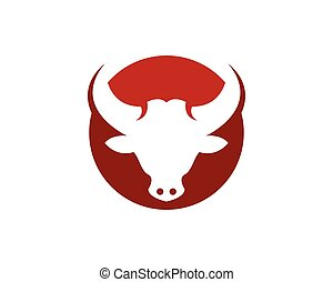 Bull head icon logo vector template