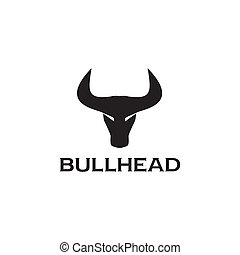 Bull head logo design vector template