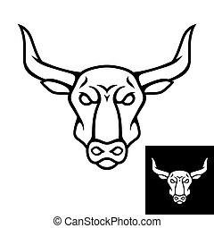 Bull head logo or icon. Black color.