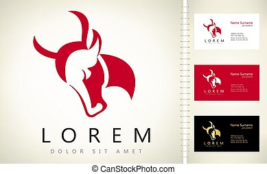bull head logo vector design