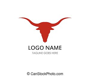 Bull head logo vector icon illustration design