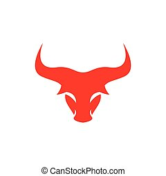 Bull head logo vector icon