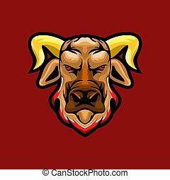 Bull head mascot