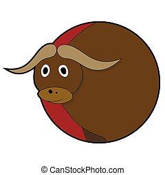 Bull head sticker icons