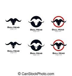 Bull head vector icon