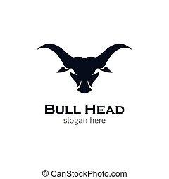 Bull head vector icon illustration