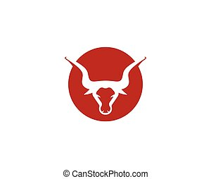 Bull head vector icon illustration