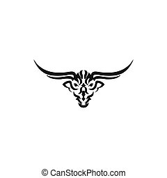 Bull head vector logo Buffalo head logo