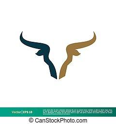 Bull Horn Vector Icon Logo Template Illustration Design. Vector EPS 10.
